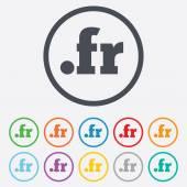 Domeny fr znak ikona. Domeny internetowe najwyższego poziomu — Wektor stockowy
