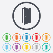 Door sign icon. Enter or exit symbol. — Stockvektor