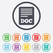 File document icon. Download doc button. — Stock Vector
