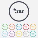 Archive file icon. Download RAR button. — Stock Vector #55360019