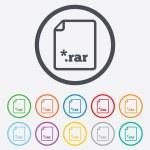 Archive file icon. Download RAR button. — Stock Vector #55360033