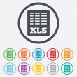 Excel file document icon. Download xls button. — Stock Vector #55360313