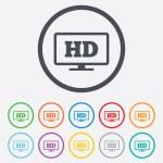 Постер, плакат: HD widescreen tv High definition symbol