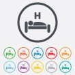 Hotel sign icon. Rest place. Sleeper symbol. — Stock Vector #55363687