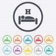 Hotel sign icon. Rest place. Sleeper symbol. — Stock Vector #55363721