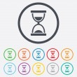 Hourglass sign icon. Sand timer symbol. — Vettoriale Stock  #55363759