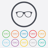 Retro glasses sign icon. Eyeglass frame symbol. — Stock Vector