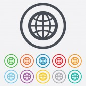 Globe sign icon. World symbol. — Stock Vector