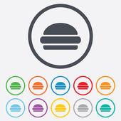 Hamburger sign icon. Fast food symbol. — Stock Vector