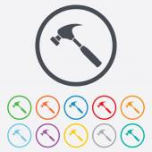 Hammer sign icon. Repair service symbol. — Stock Vector