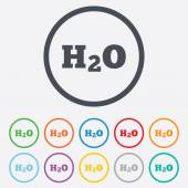 H2O Water formula sign icon. Chemistry symbol. — Vettoriale Stock