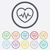 Heartbeat sign icon. Cardiogram symbol. — 图库矢量图片