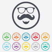Mustache and Glasses sign icon. Hipster symbol. — Wektor stockowy