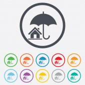 Home insurance sign icon. Real estate insurance. — Stock Vector