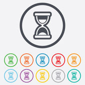 Hourglass sign icon. Sand timer symbol. — Vector de stock