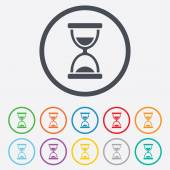 Hourglass sign icon. Sand timer symbol. — Stockvektor
