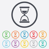 Hourglass sign icon. Sand timer symbol. — ストックベクタ
