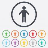 Human male sign icon. Person symbol. — Stockvector