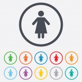 Female sign icon. Woman human symbol. — Stock Vector