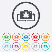 Front photo camera sign icon. Change symbol. — Stock vektor