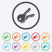 Keys sign icon. Unlock tool symbol. — Vecteur