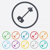 Key sign icon. Unlock tool symbol. — Vecteur