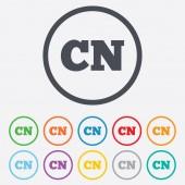 Chinese language sign icon. CN China translation — Stock Vector