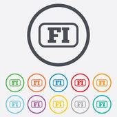 Finnish language sign icon. FI translation. — Stock Vector