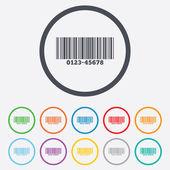 Bar code sign icon. Scan code symbol. — Stock Vector