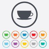 Coffee cup sign icon. Coffee button. — Stock Vector