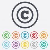 Copyright sign icon. Copyright button. — Stock Vector