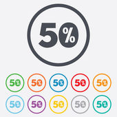 50 percent discount sign icon. Sale symbol. — Vecteur