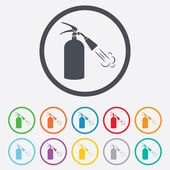 Fire extinguisher sign icon. Fire safety symbol. — Stock Vector