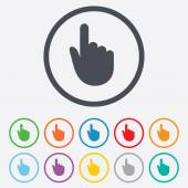 Hand cursor sign icon. Hand pointer symbol. — Stock Vector