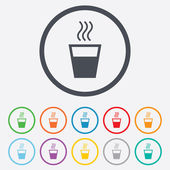 Hot water sign icon. Hot drink symbol. — Stock Vector