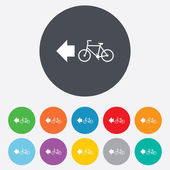 Bicycle path trail sign icon. Cycle path. — Stockvektor