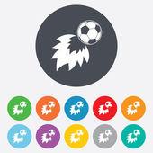 Football fireball sign icon. Soccer Sport symbol — Vettoriale Stock