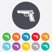 Gun sign icon. Firearms weapon symbol. — Stockvector