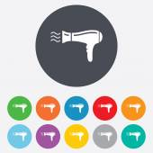 Hairdryer sign icon. Hair drying symbol. — Stock Vector