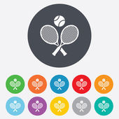 Tennis rackets with ball sign icon. Sport symbol — Vettoriale Stock