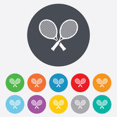 Tennis rackets sign icon. Sport symbol. — Vettoriale Stock