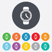 Wrist Watch sign icon. Mechanical clock symbol. — Cтоковый вектор