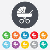 Baby pram stroller sign icon. Baby buggy symbol. — Stock Vector