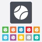 Tennis ball sign icon. Sport symbol. — Stock Vector #56495481
