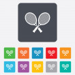 Tennis rackets sign icon. Sport symbol. — Stock Vector #56495513