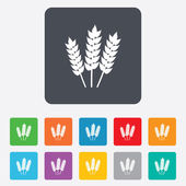 Agricultural sign icon. Gluten free or No gluten — Stock Vector