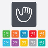 Baseball glove sign icon. Sport symbol. — Wektor stockowy