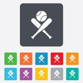 Baseball bats sign icon. Sport symbol. — Stock Vector