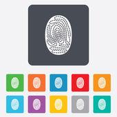 Fingerprint sign icon. Identification symbol. — Stock Vector