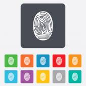 Fingerprint sign icon. Identification symbol. — Stock Vector